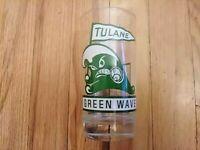 "Rare 1967 Tulane Green Wave Football Schedule Glass Coach Jim Pittman 5.5"" Tall"