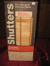 Vintage Interior Wooden Louvered Shutter Set, Flair Fold, NOS Model no 820