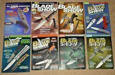 Lot of 8 Blade Show Official Program Magazines 2006 '09 '10 '11 '12 '13 '14 & 15