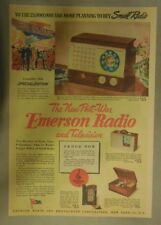 Emerson Radio Ad: The New Post War Emerson Radios and Televisions! from 1944