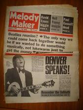 MELODY MAKER 1976 MAR 27 BEATLES REUNION JOHN DENVER