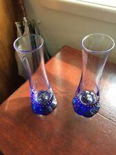 Bormioli Rocco Crystal Blue Base Flower Vase, 2 Available