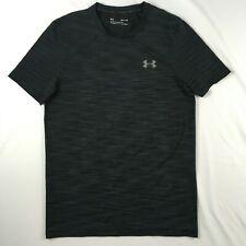 UNDER ARMOUR threadborne charcoal / black heathered t-shirt MENS SMALL S