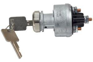 Ignition Switch f Heavy Duty 4 Pos GM style key Chrome Nut GMC Peterbuilt 180