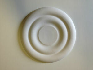 """Plaster Ceiling Rose  9"""" Plain"""