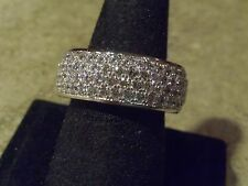 HSN Jean Dousset Absolute CZ Pave Eternity Band Ring Men's Unisex