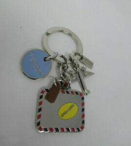 Coach Enamel Travel Mix Charms briefcase Airplane medallion Key chain Rare NWOT
