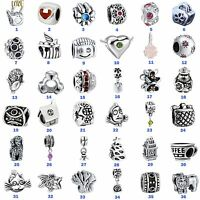 HOT European Bead Charms Jewelry For 925 Silver Sterling Bracelet Chain Necklace