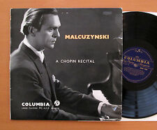 33CX 1338 Malcuzynski Chopin Recital 1956 Columbia Blue Gold Mono NM/VG