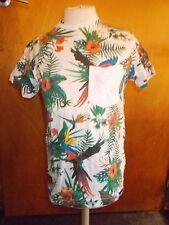 SpyDenim 'Diego' 100%Cotton Bird Floral S/S T-Shirt 6-7y 122cm White Mix BNWT
