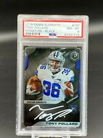 2019 Tony Pollard Panini Elements Black On Card Auto Rookie RC SP #4/5 Cowboys
