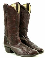 Dan Post Burgundy Women's Leather Vintage Cowboy Cowgirl Western Boots Boho 10 B