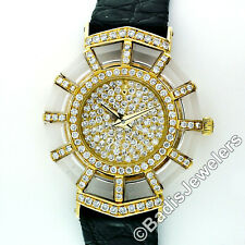 Ladies Corum 18k Gold Rock Crystal Diamond 26mm Polygonal Wrist Watch 24.281.65