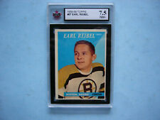 1958/59 TOPPS NHL HOCKEY CARD #57 EARL REIBEL KSA 7.5 NM+ SHARP+ 58/59 TOPPS