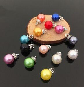 20pcs Colorful Imitation pearls pendant Hair accessories earrings DIY pendant