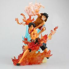 ONE PIECE - Figuras de acción Monkey D Luffy vs Portgas D Ace 18 cm