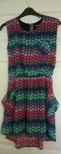 GIRLS DRESS 10-11 YEARS M&S LIMITED COLLECTION PINK TEAL HEART BEAUTIFUL VGC