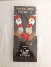 DISNEY NIGHTMARE BEFORE CHRISTMAS PIN TRADING STARTER SET ~ 4 PINS & LANYARD