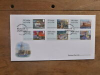 GUERNSEY 2017 LIGHTHOUSES PEEL & STICK SET 6 STAMPS FDC FIRST DAY COVER