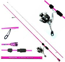DAM Skorpion ultra light pink Angelset Quick 1 2000 und Spoon Checker 210cm Rute