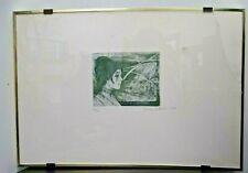 INCISIONE num. 36/50 1975 SANDRO LO CASCIO Ritratto FIGURA donna firmato quadro
