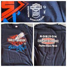True Vtg 80's Harley Davidson Screamin Eagle T Shirt Large Robinson Daytona Rare