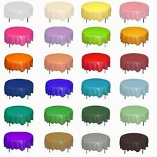 Round Plastic Tablecloth Wedding Birthday Party Dinner Table Cover Decor Clean