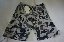 MATCH MENS CAMO CARGO COMBAT SHORTS SIZE UK WAIST 30""