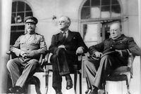Roosevelt, Stalin, & Churchill Teheran Conference 4x6 World War II WW2 Photo 25