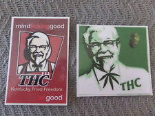 CANNIBUS, THC, KENTUCKY FRIED FREEDOM, MIND LICKING GOOD STICKERS LOT OF 2