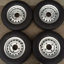 "4x 165R13C 8Ply new trailer tyres Wheels 4 Stud 5.5"" PCD 165R13 Ifor Wessex"