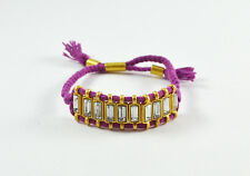 J.Crew Factory crystal railtrack friendship bracelet purple