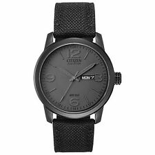 Citizen Eco-Drive Men's BM8475-00F Military Black Nylon Strap 42mm Watch