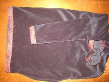 Uilleann bag cover Black velvet with black/red celtic knot trim cover