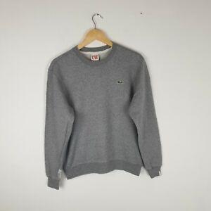 Men's Lacoste Live Light Grey Sweatshirt Jumper with Small Logo Size M