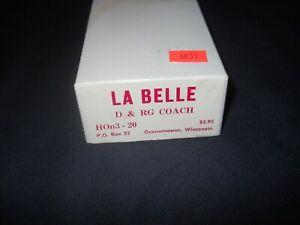 HOn3 Scale La Belle D&RG Coach Kit