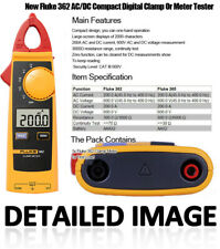 Fluke 362 Handhold Digital Ammeter Clamp Meter Tester Acdc Precision Universal