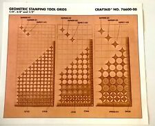 Tandy Leather Factory Geometric Stamping Tool Grids Stencil Craftaid No 76600-00