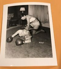 4 X 5 ORIGINAL NEGATIVE PHOTO FROM IRVING KLAW ARCHIVES Women Boxing Series 4575