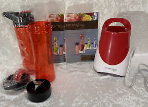 Personal Drink Mixer Kitchen Living 2 Bottles Drinking & Mixing Lid Red Carrying