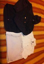 EMS Fleece Hoodie/Quicksilver Button Oxford/Muscle Tee Combo,mns M,blkprintgry