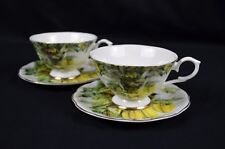 Tea Set Of Two Fine Bone China Cup And Saucer