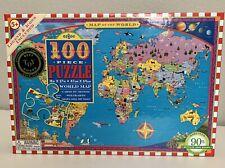 eeBoo Map of The World 100 Piece Jigsaw Puzzle New In Box NIB Sealed