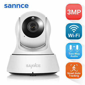 SANNCE Indoor Wireless Wifi 3MP IP CCTV Camera Home Security System Kit Night UK