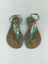 Sam Edelman Womens Multicolor Ankle Strap Sandals Bird Detail Sz US 7.5