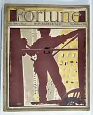 VINTAGE FORTUNE MAGAZINE NOVEMBER 1932 FREE SHIPPING!!