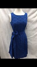 "ANNE KLEIN DRESS/NEW WITH TAG/SIZE 16/LENGTH 40""/RETAIL$129/BLUE/COTTON"