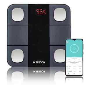 Personen Waage digital Bluetooth Analyse Waage Körperfett Muskel App Glas SEBSON