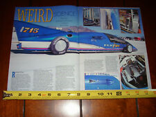 FLATHEAD LAKESTER 1948 MERCURY BONNEVILLE RACE CAR FLAT FIRE - 1992 ARTICLE