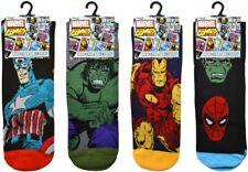 4 Pairs of Mens Official MARVEL AVENGERS Character Socks Novelty Genuine 6-11.